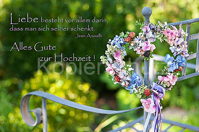 Liebe Besteht Hochzeit Blumenherz Www Stimmungs Bilder De