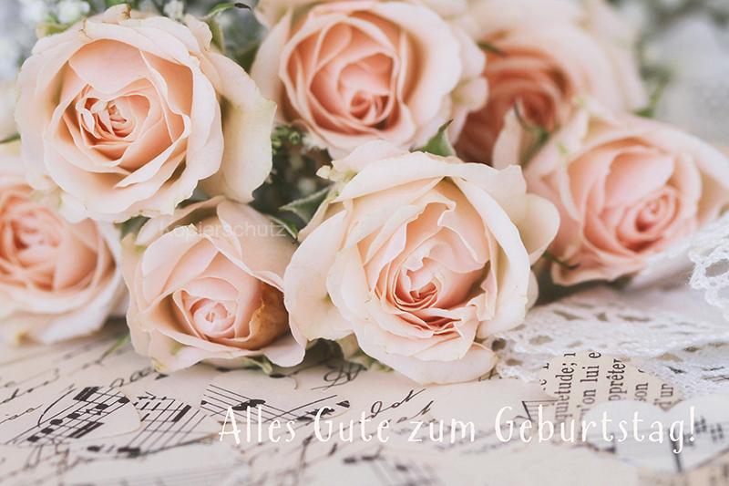 alles gute zum geburtstag rosen und papierherzen www stimmungs. Black Bedroom Furniture Sets. Home Design Ideas