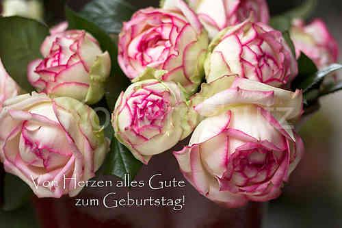 Von Herzen Alles Gute Rose Biedermeier Geburtstag