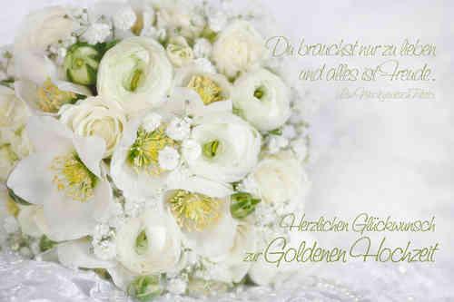 Geliebte Goldene Hochzeit, weißer Strauss - www.Stimmungs-Bilder.de &SY_25