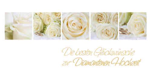 Diamantene Hochzeit Weisse Rosen Www Stimmungs Bilder De