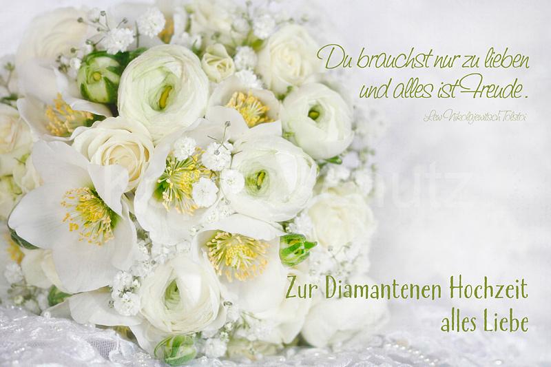 Diamantene Hochzeit, Weißer Strauss
